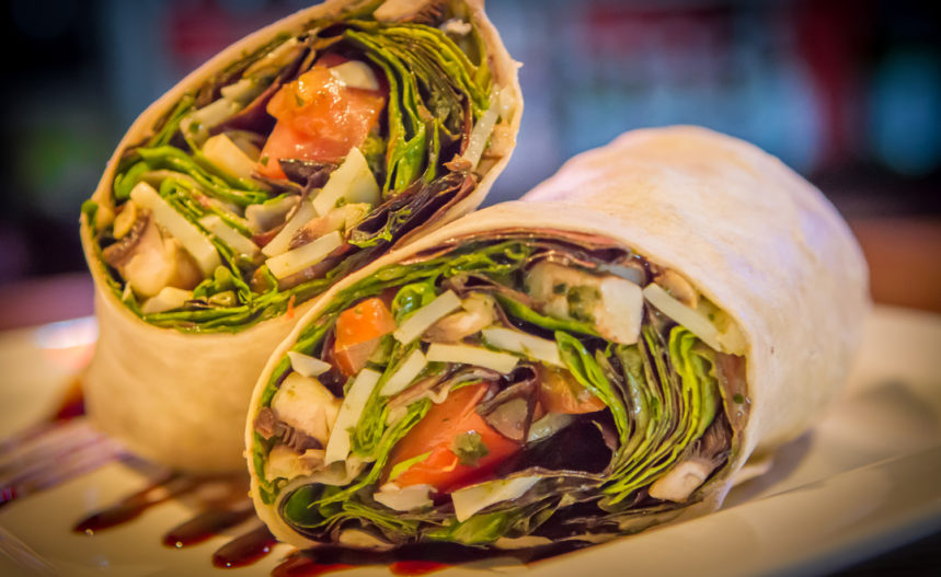 Al Carbon Caramelized Onion & Blue Cheese with Chicken or Beef Wrap